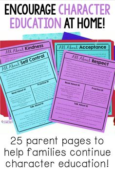 Are you looking for easy ways to connect with parents? These 25 print and go character education parent letters will help you make the school to home connection. Each letter focuses on a different character trait and includes a short note, as well as practical ideas for parents to help continue character education at home through reading, talking and spending time together! These forms are perfect for grades K-5! Character Education Lessons, Character Trait, Parent Letters, Letter To Parents, Home Connections, Self Control, Behavior Management, School Counseling, Humility