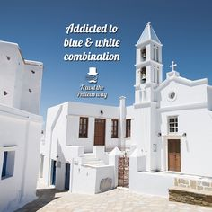 Travel Guide, Greece, Blue And White, Mansions, House Styles, Home Decor, Greece Country, Decoration Home, Manor Houses