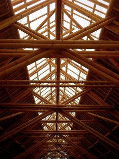 World's largest all-bamboo factory #bamboo #architecture