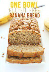 One Bowl Gluten Free Banana Bread Recipe