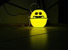 Original handmade lamp made by the artist Joe Pansa.  The sun of the Illuminati