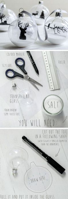 Elegant Transparent Ornaments | Click Pic for 20 DIY Christmas Tree Decorations to Make | Cheap Christmas Tree Decorating Ideas Dollar Stores