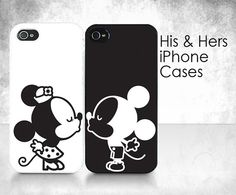 His & Hers Cases Couple Kissing 2 iPhone Cases by KirbyGraphix
