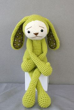 Olive   A crocheted amigurumi bunny hand crafted by AmigurumiPrincess  on Flickr.  The cuteness!