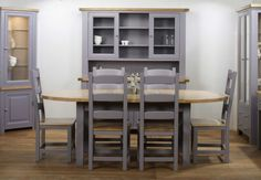 Bordeaux Large Extending Oak Dining Table; Furniture Village - Bordeaux Painted Dining Room Furniture - Dining Furniture from Furniture Village