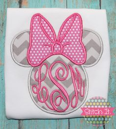 Minnie Mouse personalized appliqued shirt  by stitchitboutique, $22.00
