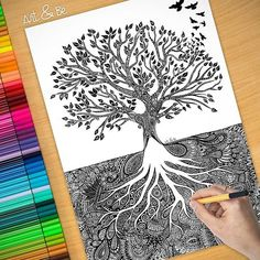 58 Best Ideas For Illustration Art Tattoo Life Tree Of Life Meaning, Tree Of Life Art, Animal Art Projects, Art Therapy Projects, Mandala Artwork, Mandala Drawing, Cute Tattoos With Meaning, Zentangle, Zen Painting