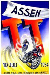posters tt assen 10-juli-1954 Bike Poster, Motorcycle Posters, Poster Ads, Car Posters, Motorcycle Art, Bike Art, Poster Prints, Vintage Ads, Vintage Posters