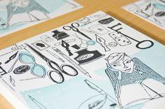 Donna Grethen - Letterpress by Sagetopia Letterpress, Storytelling, Promotion, Branding, Art Prints, Division, Projects, Cards, Illustrations