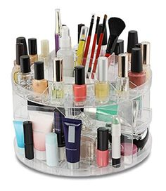 Cosmetic Organizer Carousel Clear Acrylic - Total Vision ** Continue to the product at the image link.