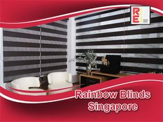 The extraordinary Rainbow Blinds Singapore or shadow blinds enlarge the appearance of the window in a true sense by combining both horizontal and roller blinds functions into a single blind form.