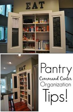 Pantry Command Center Organization tips! Great ideas to get your organized!