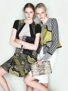 Sisters Elza and Vera Luijendijk Front Cue S/S 2013 Campaign