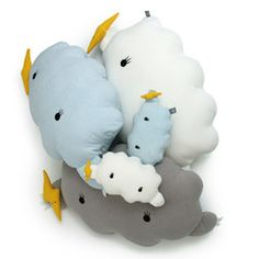 Soft Toy / Cushion . Giant Ricestorm Cloud - Grey  Get the set
