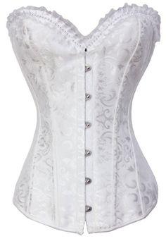 The Violet Vixen - Diamond Dazzler White Corset, $44.99 (http://thevioletvixen.com/corsets/diamond-dazzler-white-corset/) white brocade corset costume wedding snow