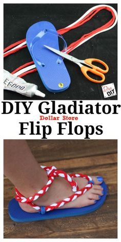 Make Your Own Flip Flops (Gladiator Style) -