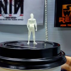 Freakn Cool, mini Ike standing on a Coffee Cup lid... this has to be one of the coolest images from GKR so far -   ArtStation - Ike: GKR Heavy Hitters Pilot, Lindsey Crummett