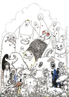 Monsters and mushrooms by endless-spirit on deviantART http://endless-spirit.deviantart.com/art/Monsters-and-mushrooms-53738378