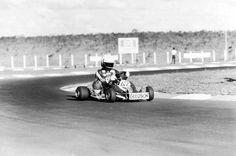 Ayrton Senna durante prova do Campeonato Mundial de Kart em Estoril, Portugal – 23 de setembro de 1979.