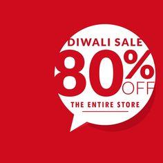 Sencillo fondo rojo para las ventas en diwali  Vector Gratis