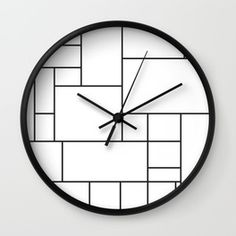 Mondrian Wall Clocks | Society6