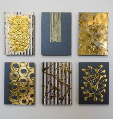 Abstract Expressionism, Abstract Art, Road Painting, Gold Foil Paper, Simple Canvas Paintings, Foil Art, Original Art For Sale, Metal Wall Art, Decoration