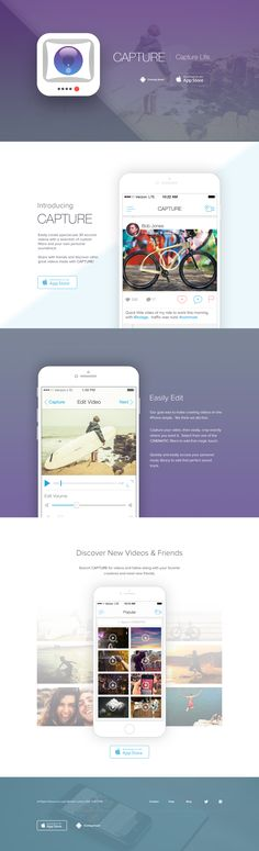 Landing page for Capture app