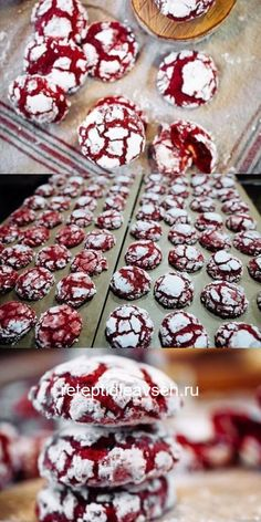 Cookies Red velvet - bright, fragrant and very tasty. Banana Bread Recipes, Easy Cake Recipes, Sweet Recipes, Baking Recipes, Cookie Recipes, Dessert Recipes, Chocolate Candy Recipes, Chocolate Cake Recipe Easy, Food Cakes