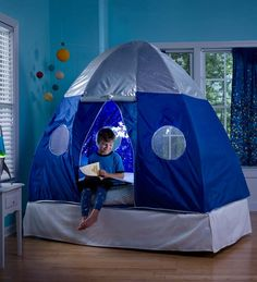 Galactic Bed Tent Not sure if Dash would like this and think it's cool or think it's scary