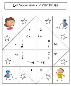 Coquotte compléments à 10 - Picibille - Dans ma trousse, il y a... Math 2, 1st Grade Math, Grade 1, Math Addition, Addition And Subtraction, Book Activities, Diy Paper, Kids Rugs, Cycle 2