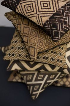 Envers du Decor Coussins tissus africain kuba