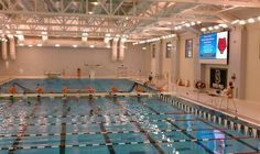 The Moran Coleman Aquatics Center, featuring a 56-meter swimming pool for varsity competition and recreational use, three-meter diving, seating for 400 spectators overlooking the pool, and a state-of-the-art video HD scoreboard. A system of movable bulkheads will allow simultaneous activities by different groups and could increase recreational swimming time. The pool will be the fastest in the Northeast.