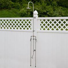 Deluxe Outdoor Shower Mixer with Foot Shower - Outdoor Showers - Outdoor