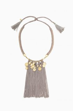 Gold Fringe Statement Necklace   Stella & Dot #sdlove #sdstyle #jewelry