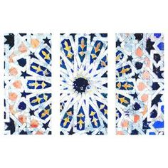 Azahar Canvas Print, Oliver Gal (Set of 3)