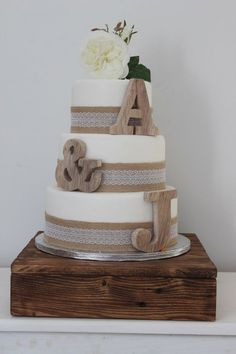 Rustic Wedding Cake Toppers - Personalised Cake Toppers - Small Wooden Letters - Cake Topper Initals - Childrens Decor - Nursery Decor The Effective Pictures We Offer You About custom wedding cake top Rustic Wedding Cake Toppers, Personalized Wedding Cake Toppers, Rustic Wedding Signs, Cool Wedding Cakes, Beautiful Wedding Cakes, Wedding Ideas, Trendy Wedding, Wedding Country, Wedding Rings