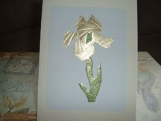 Iris Folding Iris  One done in a solid gold by DeesGreetingCards, $4.50