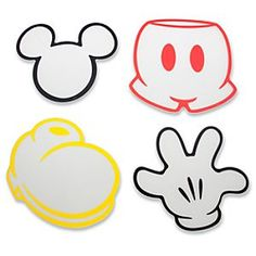 "Mickey Mouse Pants Template | Disney ""Best of Mickey Mouse Cutting Board Set -- 4-Pc."" at the ..."
