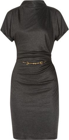 GUCCI Draped Belted Jersey Dress <--simple & cute♥