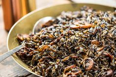 """Wisconsin: Wild Rice With Mushrooms via The New York Times, """"The United States of Thanksgiving"""""""