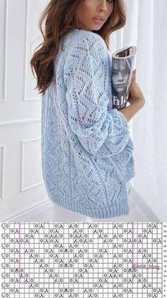 Lace Knitting Stitches, Lace Knitting Patterns, Knitting Designs, Vogue Knitting, Knitted Coat, Crochet Fashion, Sweater Fashion, Crochet Clothes, Knit Crochet