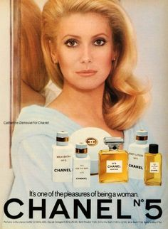 1976 Ad Chanel No 5 Body Lotion Perfume Cologne Oil Bath Catherine Deneuve - Original Print Ad by Period Paper, http://www.amazon.com/dp/B0062OWNJE/ref=cm_sw_r_pi_dp_MQzfqb1JZQHMY