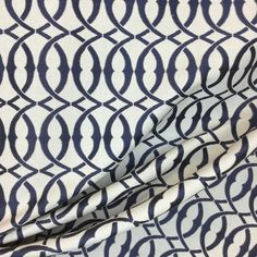 A beautiful navy and white lattice print on a heavier weight material. This piece is perfect for pillows, upholstery, bedding, and more! Kitchen Chairs, Dining Room Chairs, Pillow Fabric, Pillows, Window Seat Cushions, Geometric Fabric, Panel Curtains, Window Treatments, Navy And White
