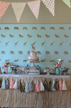 Annabelle's 7th Birthday Party - Glam Safari   CatchMyParty.com