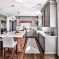 We shared this kitchen last week and everyone loved it, here are all the views. Swipe to see. It's a beauty! Also our sales picks are up on Beckiowens.com!! Design @the_brothers_stonington and @chrisveithinteriors