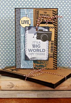 Free Online Card Making Class ~ Kaisercraft Let's Go ~ By Alicia McNamara Travel Cards, Glue Crafts, Man Birthday, Ink Pads, Letting Go, Cardmaking, Free Printables, Let It Be, Crafty