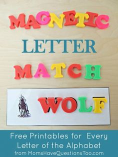 Use magnetic letters with these magnetic letter match printables for teaching the alphabet. Free printables!