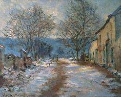 Snow Effect at Limetz 1886 Claude Monet