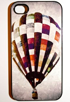 Hot Air Balloon iPhone Case  Hard Plastic 4G by maybesparrowsplace, $35.00
