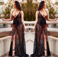 Black Fenti Maxi Dress